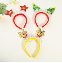 party hairwear Adult christmas hairband xmas tree design head hoop Kid Christmas gift cute Cosplay Animal Antlers Headband#1023(China)