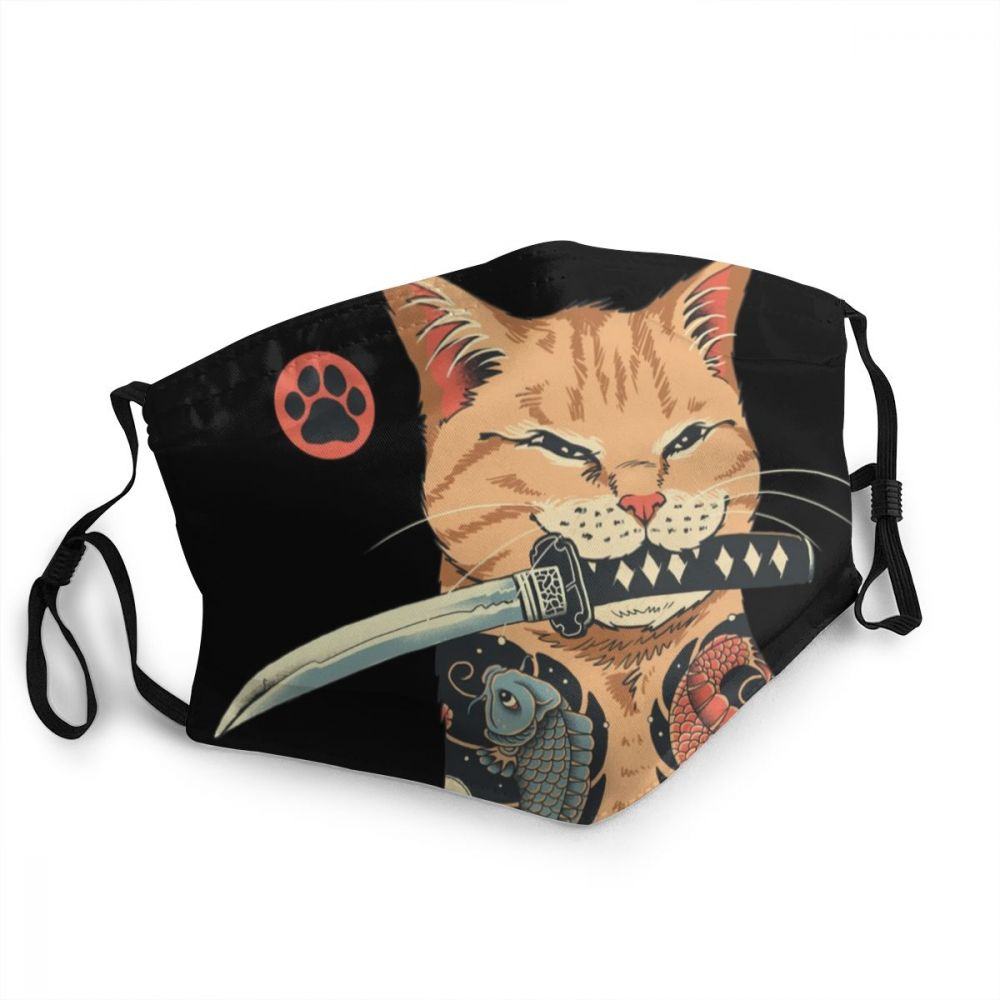 Masque Catana chat samouraï japonais Créer Son T Shirt