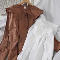 2020 blusas mujer de moda mori girls autumn summer Japanese style chic vintage long sleeve solid blouse shirt