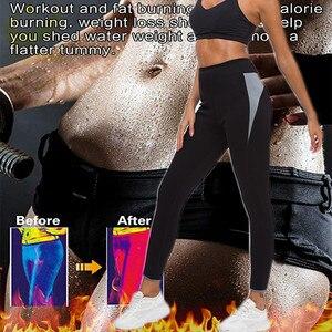 Image 4 - LAZAWG sıcak neopren pantolon vücut şekillendirici pantolon spor egzersiz Legging sıcak termo bel eğitmen korse Shapewear ev spor popo Lifte