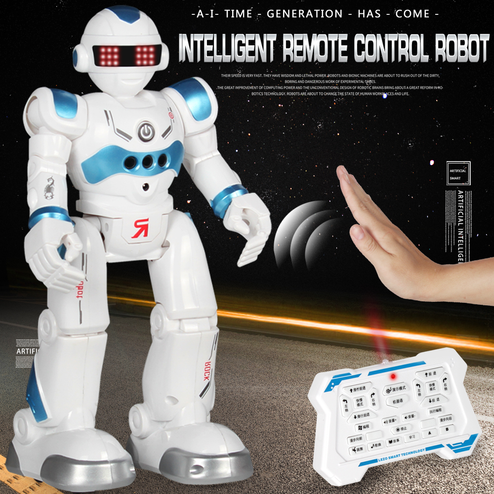 2020 New Remote Control Robot Multi-Function Programmable Toy Singing And Dancing Gesture Sensing Action Doll Children Best Gift