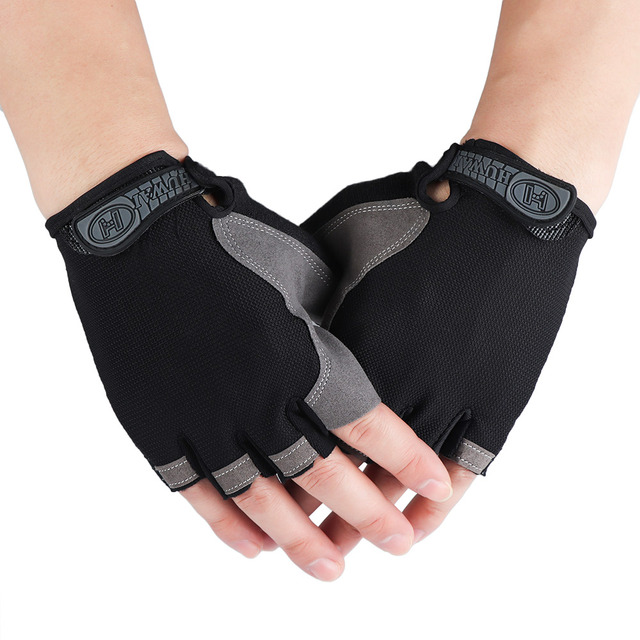 Half Fingerless Gloves Non-slip Sport Mittens Cycling Gloves Bicycle Sport Wrist Wrap Gym Gloves for Fitness Body Building 5