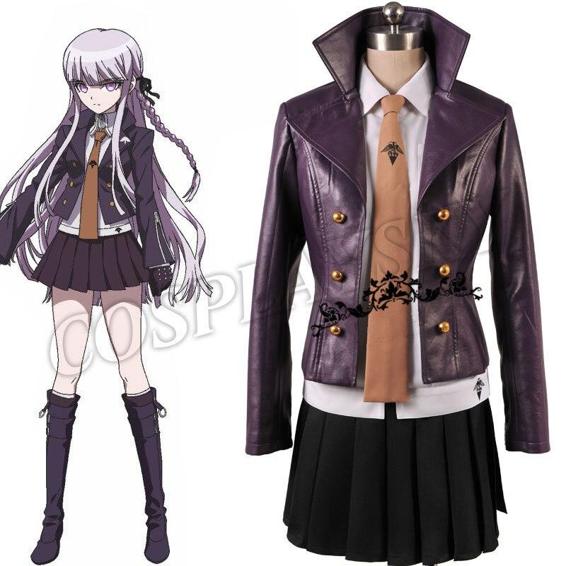 Danganronpa dangan-ronpa Kyoko Kirigiri Costume Cosplay robe sertie de gants