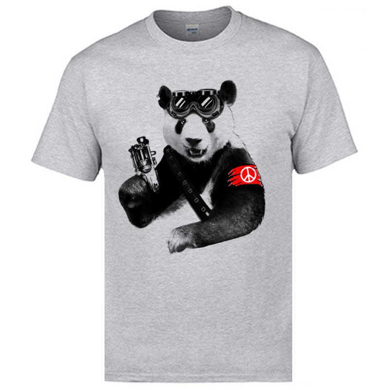 Populaire pas cher t-shirts rétro Panda rebelle classique à manches courtes T-Shirt 100% coton mode décontracté hommes hauts & t-shirts grande taille