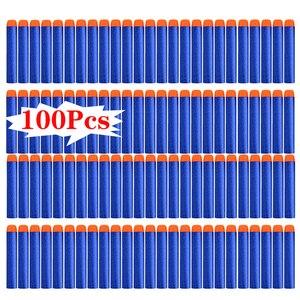 100 шт для Nerf пули мягкие полые головки отверстия 7,2 см пополняемая игрушка дартс пули для Nerf детей подарок аксессуары для Игрушечного Пистол...