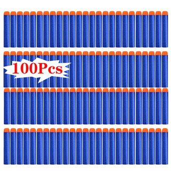 100PCS For Nerf Bullets Soft Hollow Hole Head 7.2cm Refill Darts Toy Gun Bullets for Nerf Kid Children Gift Toy Gun Accessories worker f10555 no 152 stf type b set professional toy gun accessories for nerf stryfe black