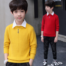 Solid Turn Down Collar Formal Sweaters Winter Thicken Kids Knitwear Coats Children's Jackets Boys Clothing Autumn Kids Cardigan 2018 children cotton pajamas set boys girls cardigan turn down collar solid color clothing kids air conditioning suit homewears