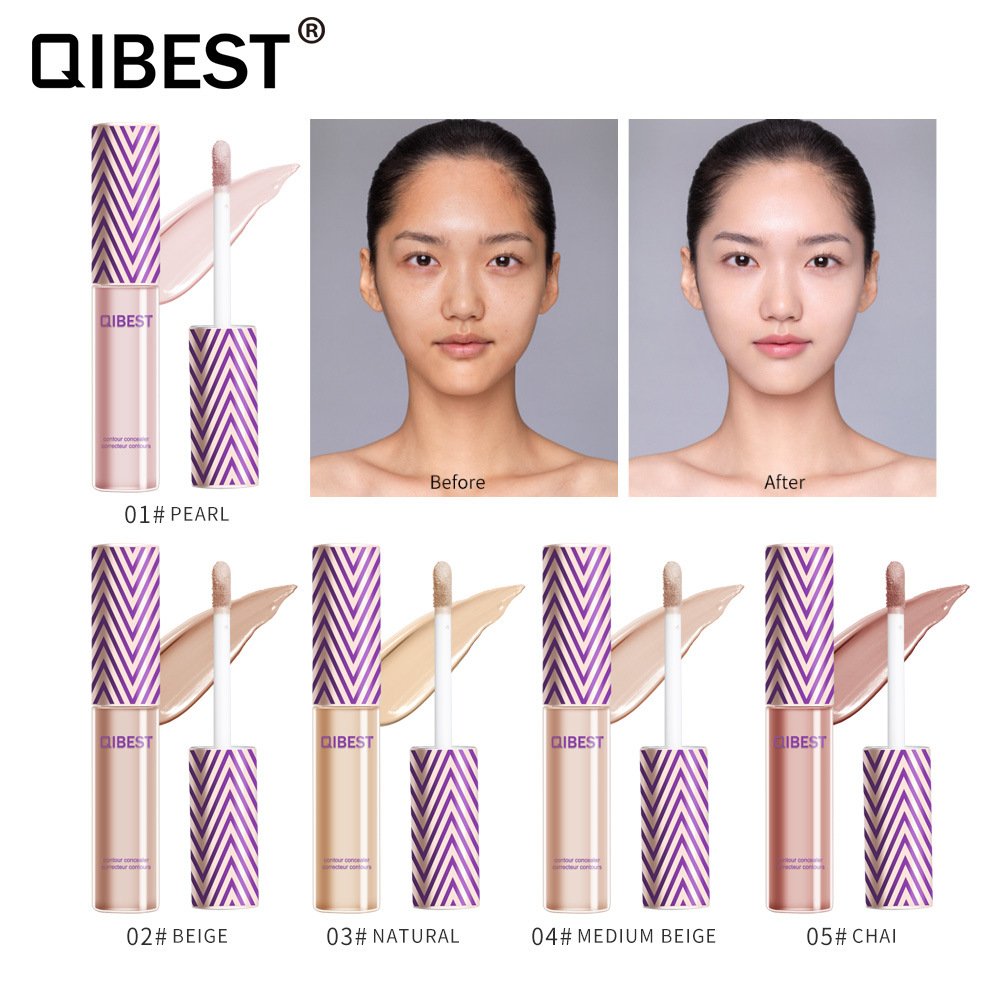 Korean Full Cover 5 Colors Liquid Concealer Makeup 6ml Eye Dark Circles Cream Face Corrector Waterproof Make Up Base Cosmetic image