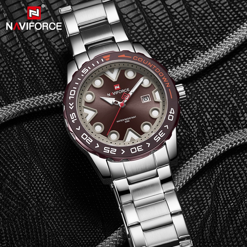 NAVIFORCE Mens Watches Luxury Men Military Sport Quartz Wristwatch Casual Dress Waterproof Creative Clock Male Relogio Masculino title=
