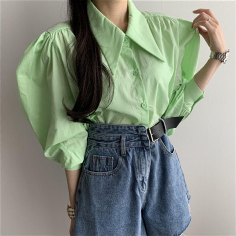 Купить 2020 новое поступление стильная блузка рубашка корейский шик