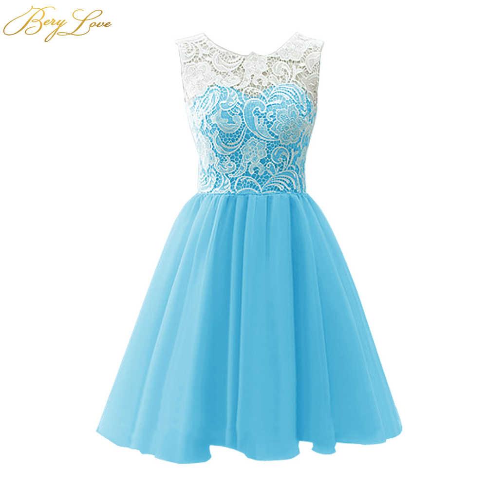 Короткое платье для выпускного вечера BeryLove, Мятное, розовое, милое мини-платье для выпускного вечера, коктейльное платье для выпускного вечера, 2020