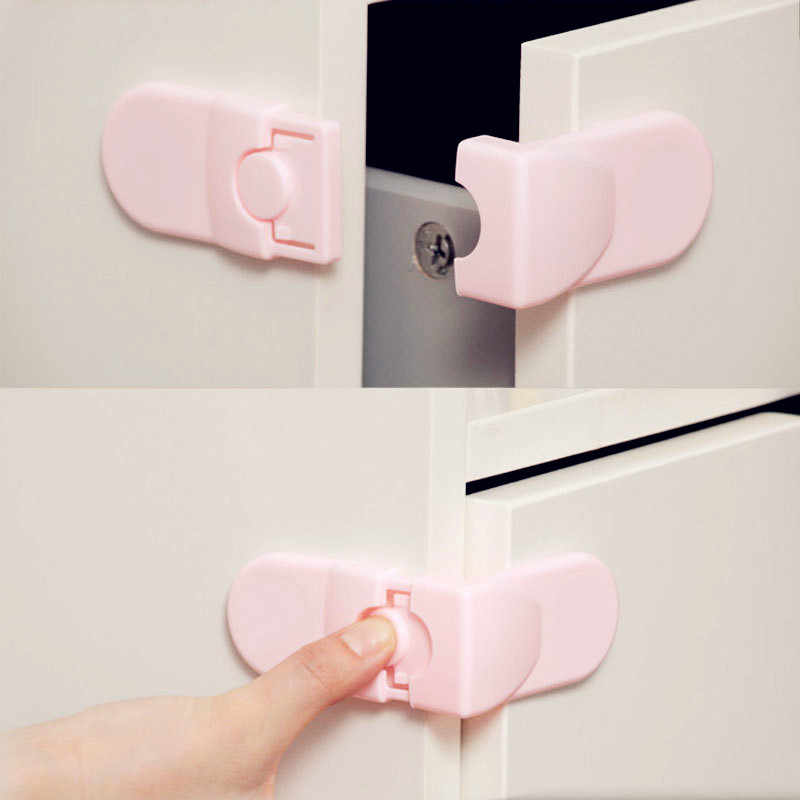 1Pcs Child Lock Protection Of Children Locking Doors For Children's Safety Kids Safety Plastic Lock For Child Infant Baby Locks