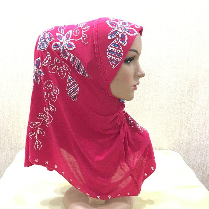 Блестящие павлиньи бриллианты малазийский хиджаб 1 шт. Amira мгновенный хиджаб готов носить головной убор мусульманский платок на голову натя...