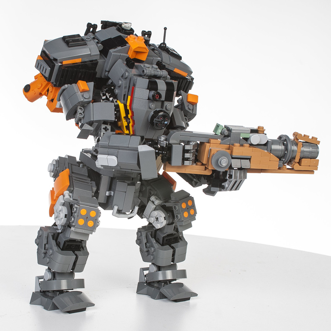 Building-Blocks Mecha Bricks Educational-Toy DIY with Blaster 1404pcs Gift-Set STEM Particle