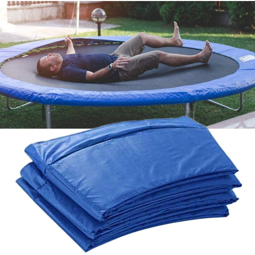 8 Feet Trampoline Cover Pad Trampoline Trampoline Side Protective Cover PE UV Resistant Replacement Mat Blue