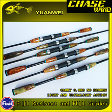 Yuanwei 1.98m 2.1m Spinning Rod UL/L 2 Section Carbon Fishing Rod Carp Fish Pole Canne a Peche Lure Rod FUJI Guides J234 fish king 2 top tip 0 5 6 2 8g carbon fishing rod spinning ultralight ul l power fast lure rod fuji guide fishing travel rods