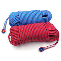 50m Static Rock Climbing Rope 10mm Tree Wall Climbing Equipment Gear Outdoor Survival Fire Escape Rescue Safety Rope 10m 20m 30m