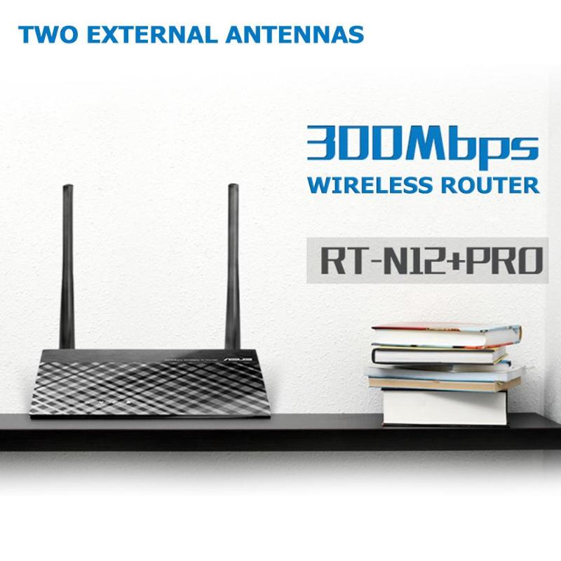 ASUS 2.4GHz Wifi Router RT-N12+ PRO 300M Wireless Signal Extender Repeater