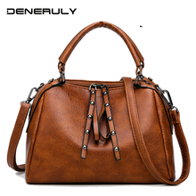 Women Luxury HandBags High Quality Leather Crossbody Bags Vintage Shoulder 2019 Large Tote Bag Sac Main Femme