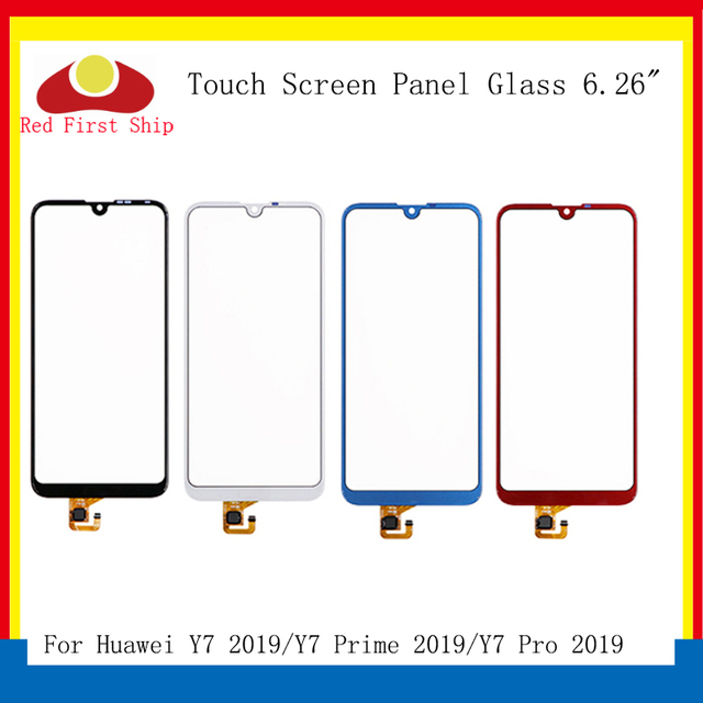 10Pcs/lot Touch Screen For Huawei Y7 Prime 2019 Touch Panel Sensor Digitizer Front Glass Outer Y7 Pro 2019 Touchscreen NO LCD
