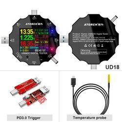 USB3.0 typu C DC tester 6-Bit wysoka precyzja cyfrowy PD 3.0 woltomierz amperomierz wyświetlić moc banku DC5.5 miernik napięcia E-aplikacja do testowania