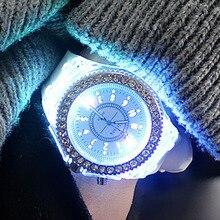 Fashion Casual Women Watches Led Flash Luminous Sports Silicone Bayan Kol Saati montre homme