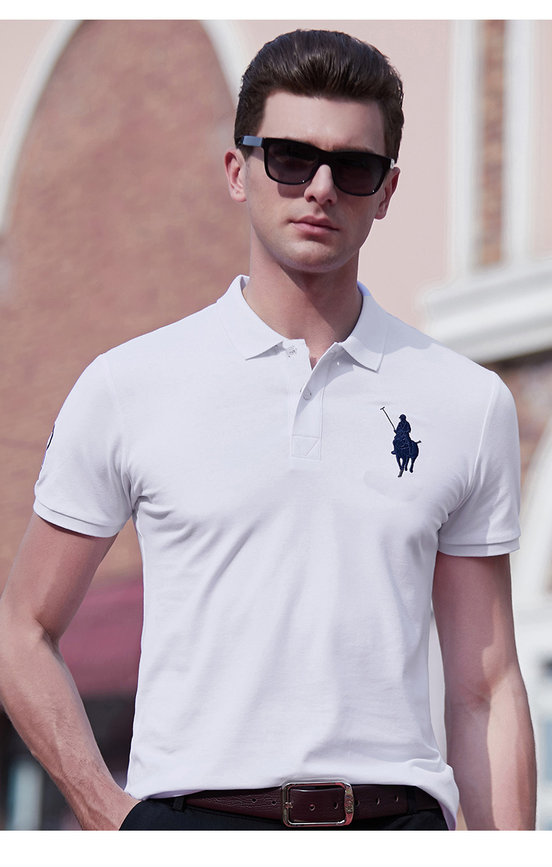 Hombre  Fit Slim Small Pony Short Sleeve Polo Shirt Casual Big Horse Camisa Masculine Polo Shirt Men Homme Asia Size