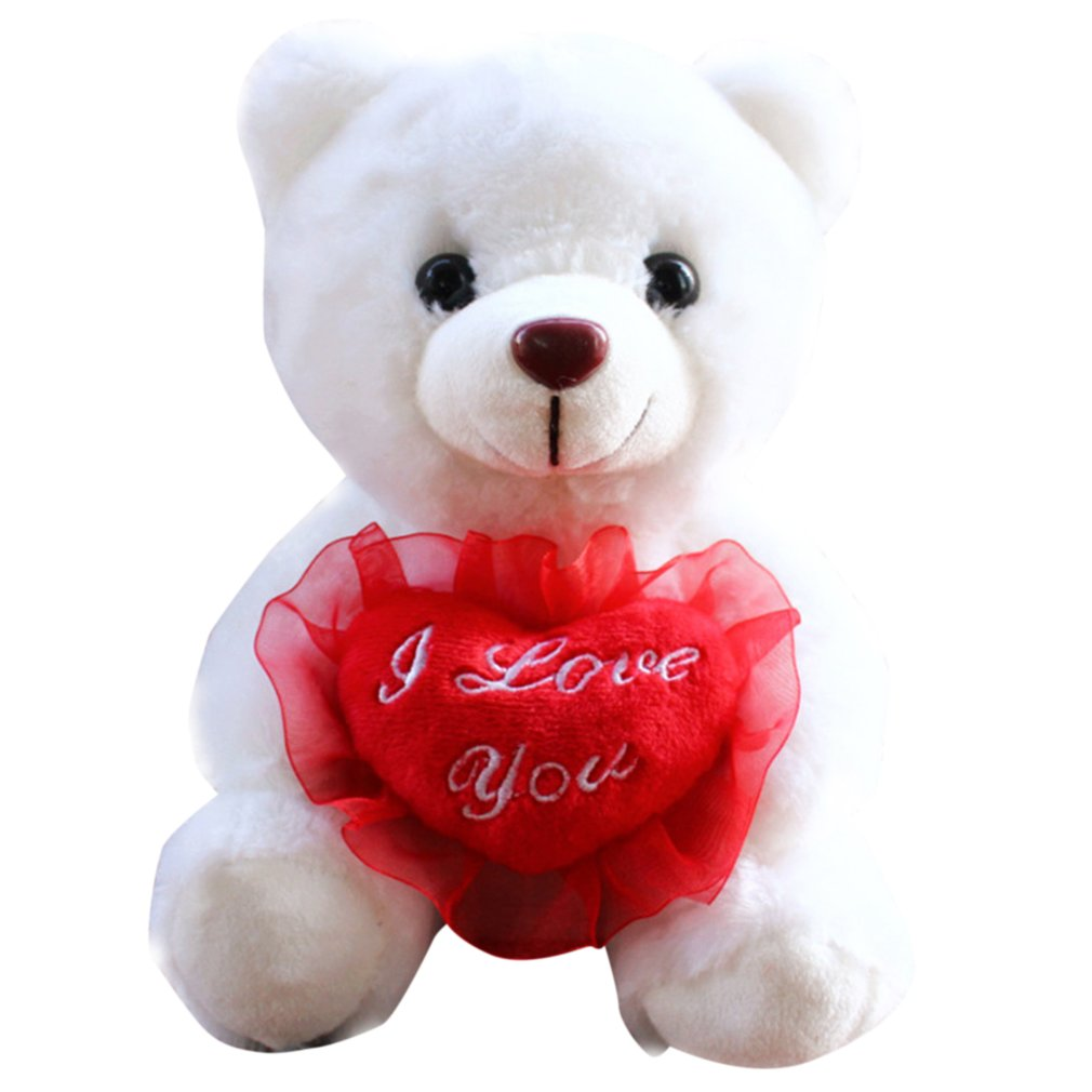 Romantic Heart Bear Design Record Repeat Stuffed Plush Toys Recording Talking Toys Best Birthday Gifts for Children Kids image