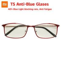 Xiaomi TS Anti-azul cristales 40% Índice de bloqueo de luz azul Anti fatiga Protector liviano UV fatiga prueba para los hombres las mujeres