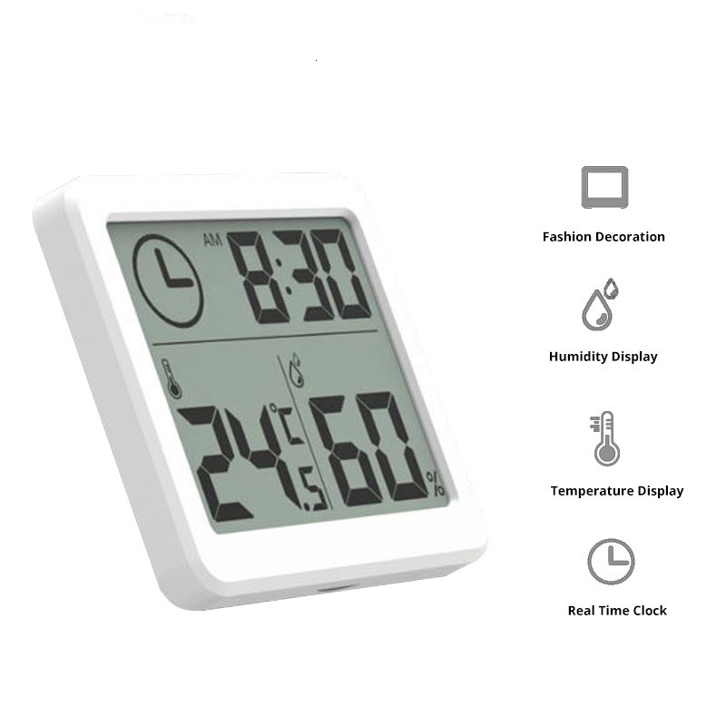 Multifunctional Automatic Electronic Temperature And Humidity Monitor Clock 3.2inch Large Lcd Screen Coolair