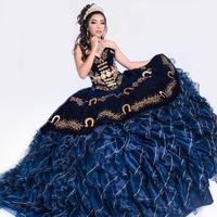 2020 Dark Navy Sweet 16 Dress Quinceanera Dresses Pageant Gowns vestido vestidos de 15 años quinceañera vestidos de xv años
