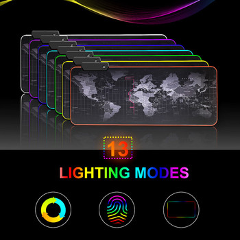 SeenDa Gaming Mouse Pad RGB Mouse Pad Computer Mousepad RGB Backlit Mause Pad Large Mousepad For Desk Keyboard LED Mice Mat contact s family 100% nubuck leather mouse pad solid color keyboard mouse mat office computer desk mat mousepad gaming mice pad