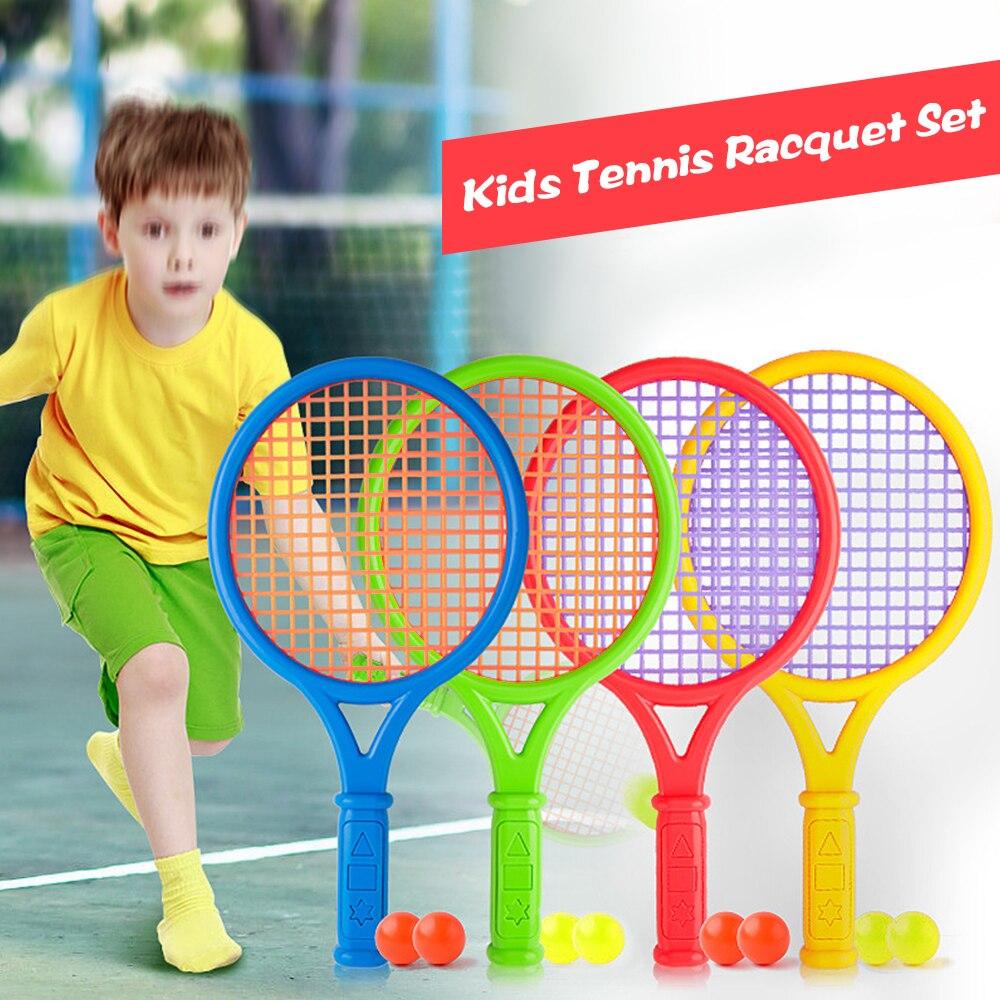 Enfants Tennis raquette ensemble enfants drôle Tennis avec des balles pour la maison jardin plage extérieur école formation Sport 2020 nouveau