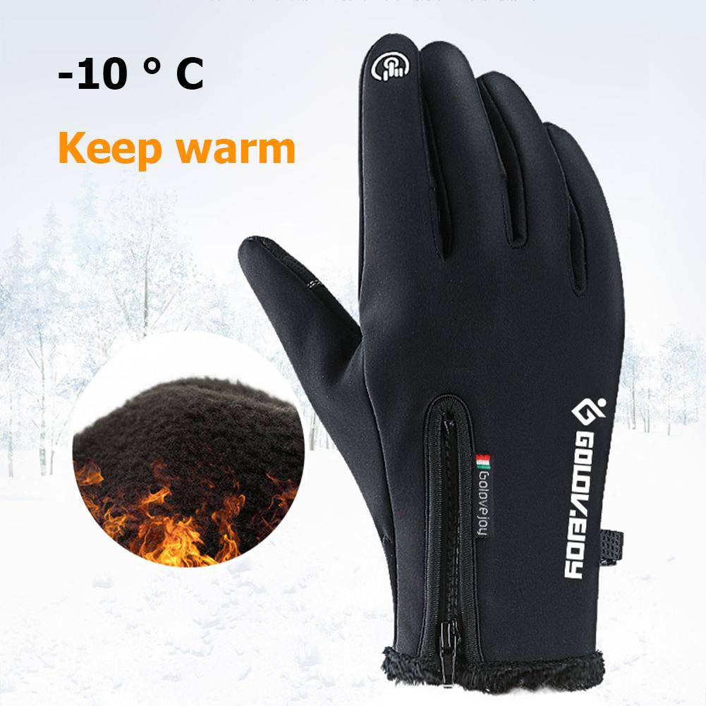 Winter Thermal Ski Gloves Men Women Kids Fleece Touch Screen Snowboard Gloves Outdoor Waterproof Snow Motorcycle Skiing Gloves