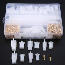 580 sztuk 2 8mm 2 3 4 6 9 pin motocykl motoryzacyjny elektryczny zacisk kablowy mężczyzna kobieta wtyczka kabla zestawy tanie tanio CN (pochodzenie) Copper Plastic 340g white and gold 580Pcs x Connector plug Kits