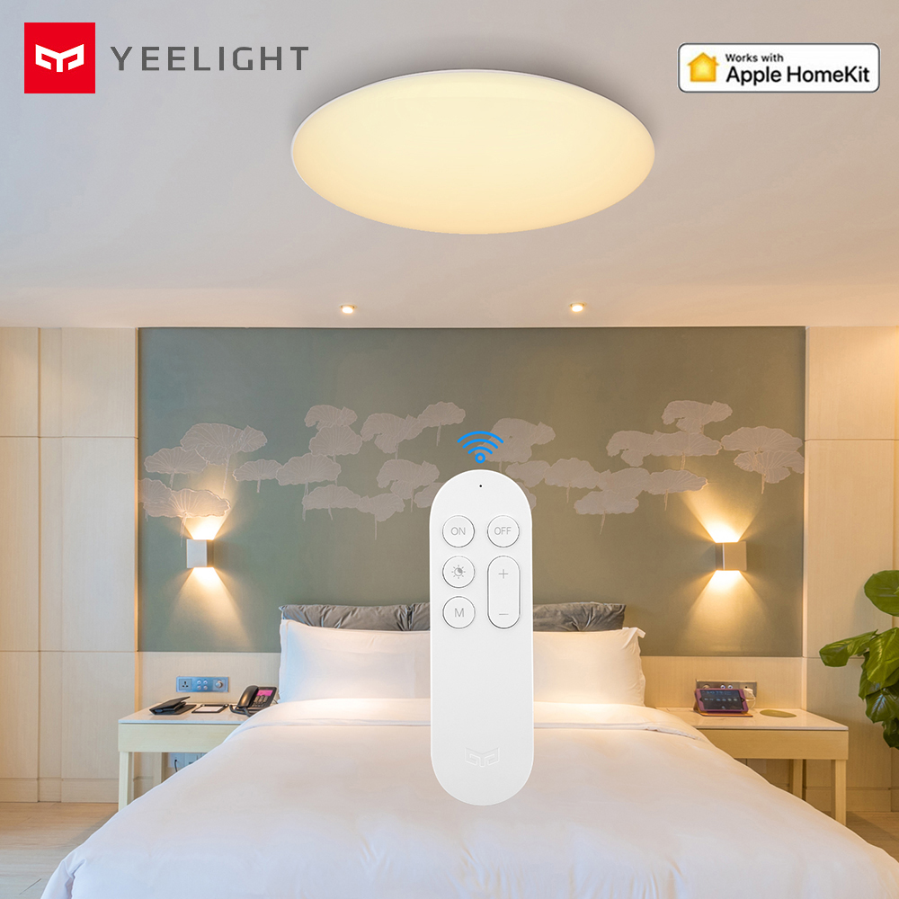 Yeelight Smart LED Ceiling Lamp Indoor Lighting Dustproof Lights APP Control 2200lm Support Homekit For Bedroom 32W YLXD42YL