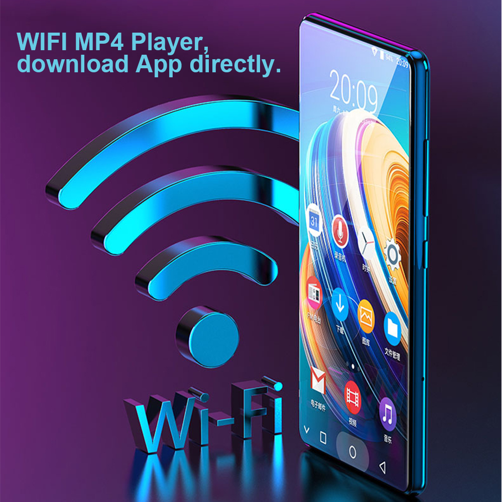 JWD Original WIFI Bluetooth MP4 Player MP3 MP5 Music Play IPS Full Touch Screen 5.0 Inches