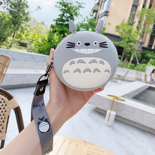 Japanese Style Girls Coin Purse Cute Cartoon Totoro Mini Coin Wallet Soft Silica Gel Zipper Hand Pur