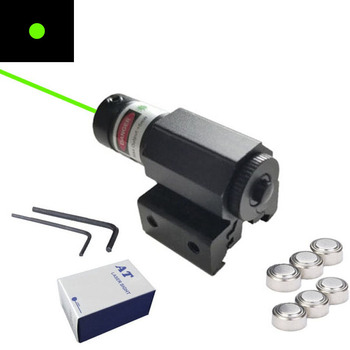 Red and Green External Laser Sight Pistol Accessories with Metal Hanging Pointer Adjustable Universal Slot