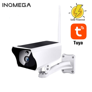 INQMEGA TUYA 1080P Outdoor IP65 Charging Battery Wireless Security Surveillance Camera PIR SMART Solar Powered WiFi IP Camera