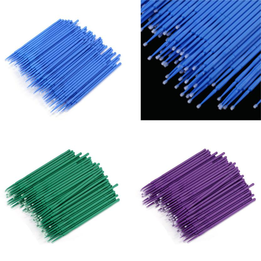 100Pc/ Bottle Microblading Micro Brushes Swab Lint Free Tattoo Permanent Supplies