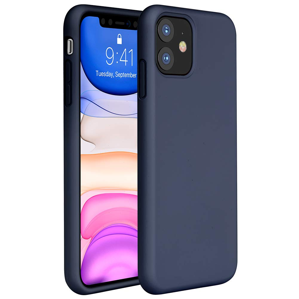 Мягкий Жидкий официальный силиконовый чехол для iPhone 11 Pro Max 8 Plus из микрофибры, Противоударная задняя крышка для iPhone X XR Xs MAX XS - Цвет: Blue