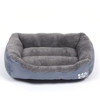 Camas de cachorro à prova dwaterproof água cama inferior para cães macio velo quente gato cama casa petshop filhote cachorro cama pet almofada esteira para cães grandes S-3XL