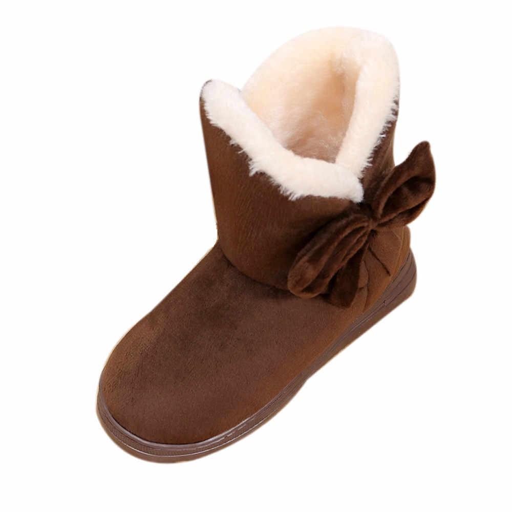 JAYCOSIN kadın çizmeler kadın kar botları düz kış artı boyutu peluş Platform bayanlar sıcak ayakkabı 2019 yeni akın kürk kadın akın