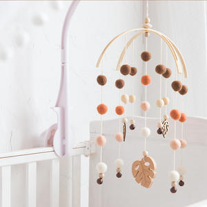 Toys Bell Rattles Bird Mobile-Bed Wood Baby Children Hanging-Decor Silicone Kids Beads