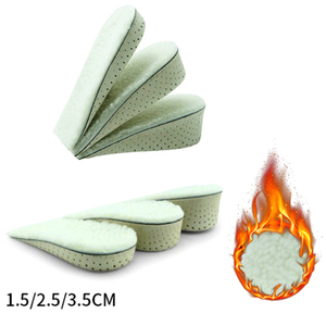 1 Pair Shoe Insoles Breathable Half Insole Heighten Heel Insert Sports Shoes Pad Cushion Unisex 3 size Height Increase Insoles