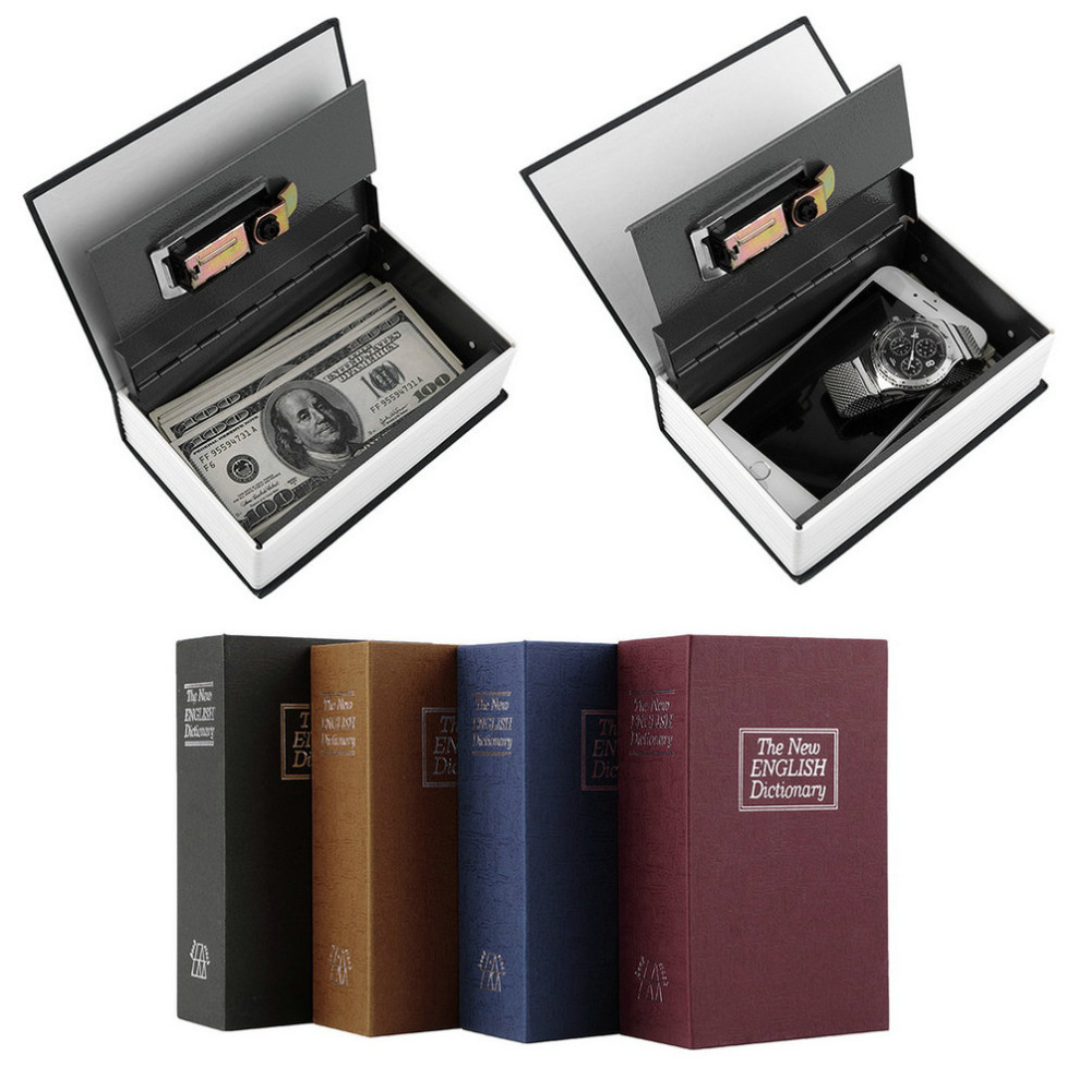 Steel Simulation Dictionary Secret Book Safe Money Box Case Money Jewelry Storage Box Security Key Lock Dropshipping