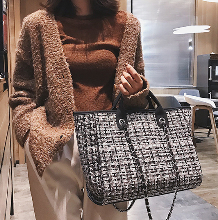 Bag Women Luxury Handbags Designer 2019 Casual Brand Big Capacity Wool Leisure Shopping Female Travel Handbag Shoulder Women Bag