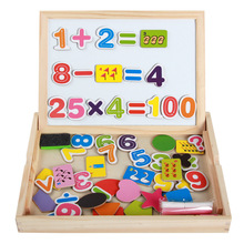 Baby Boy Girl Wooden Magnetic Puzzel Toys Children Figure Learning Arithmetic Education Tool Gift