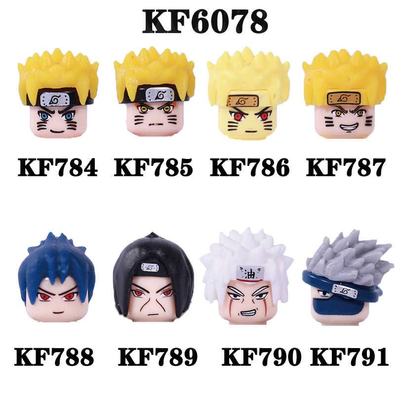 Venta única de bloques de construcción de personajes de Anime conocido, figuras de Uzumaki Naruto Uchiha Sasuke Jiraika para juguetes infantiles KF6078